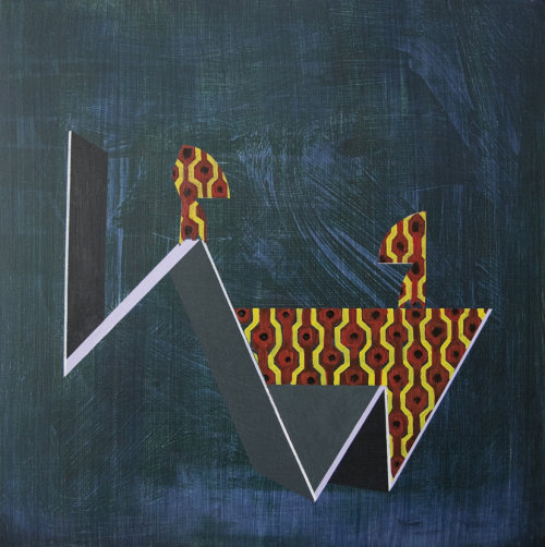 Negotiations, Level One, 2014, 40 x 40cm, acrylic on panel