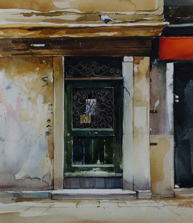 Doorway and Pigeon-Venice ll