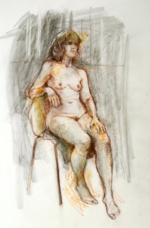 Drawing lll Seated model