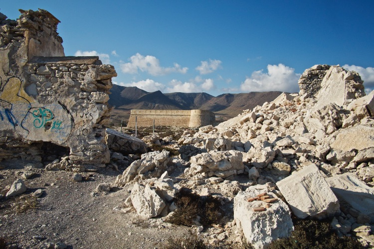 Rubble of Building Cabo de Gata Spain