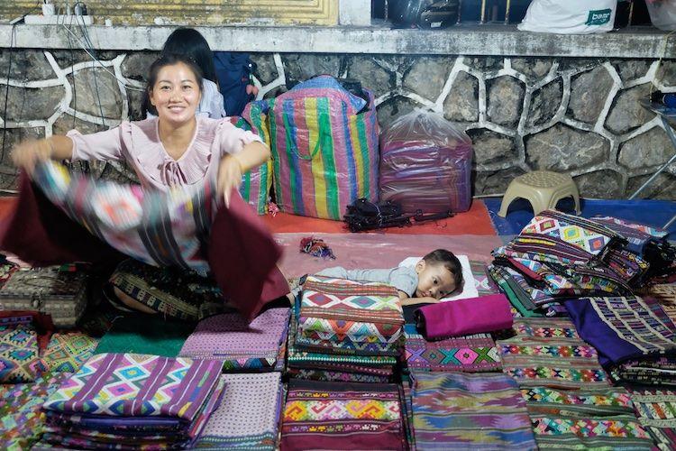 SEMARKETS 003 Cloth Stall Luang Prebang