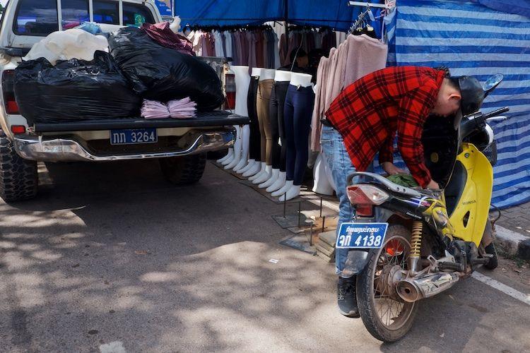 SEMARKETS 005 Clothes Stall Vientiane