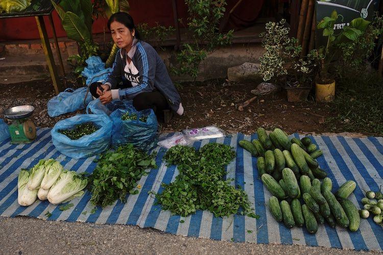 SEMARKETS 013 Vegetable Stall Vientiane
