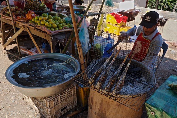 SESTREET 024 Fish Stall Luang Prabang