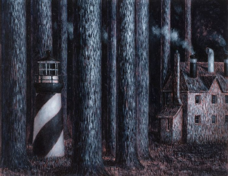 The Dark wood / oil on board 30 x 20 cm