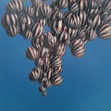 Balloons in a Blue Sky , oil on panel  50 x 50 cm