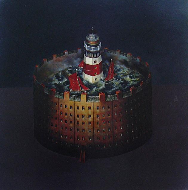 forgotten light  /oil on canvas 70cm x 70 cm