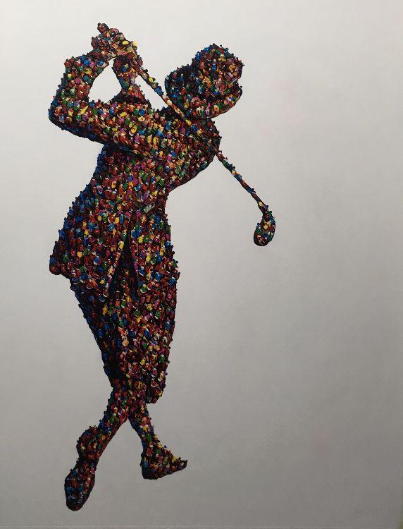 The Golfers / oil  86 x108 cm (framed) £2300