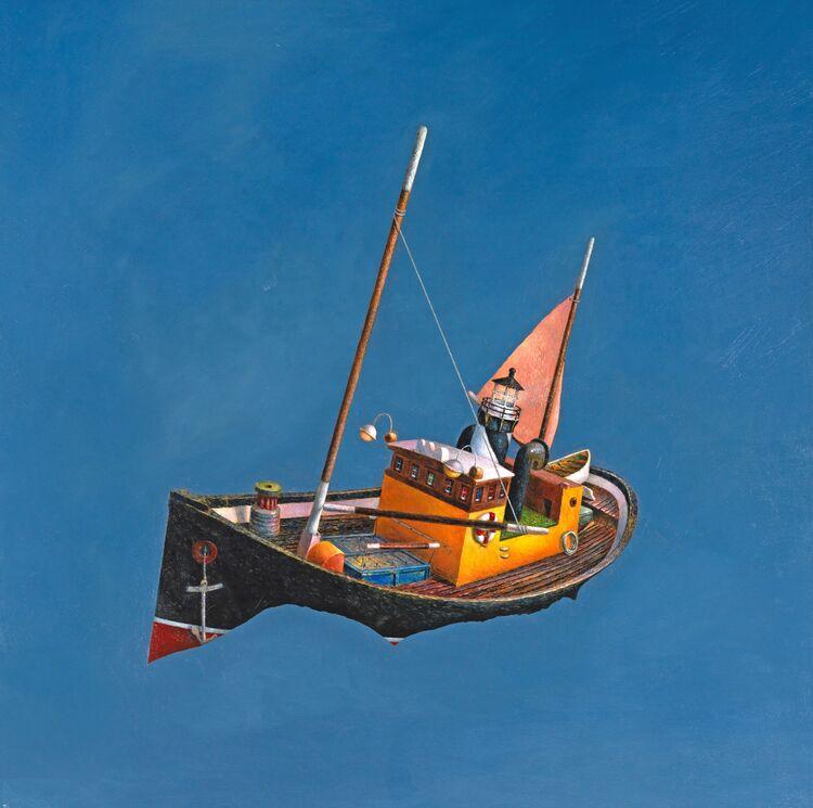 ' The Cradling Sea ' oil on panel 76 x 76 cm