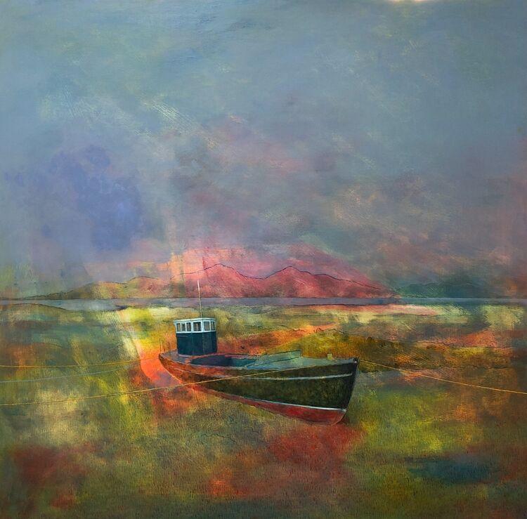 'The Still Wave' oil on panel 76x76cm