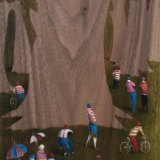 A Summer Forest / oil on American Walnut , 15 x 21 cm