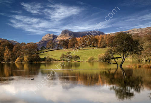Langdale Pikes from Loughrigg Tarn
