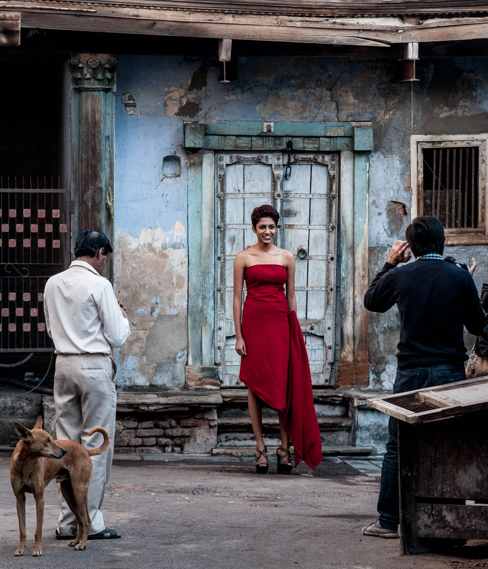 Photo shoot in the Old City, Ahmedabad, January 2014