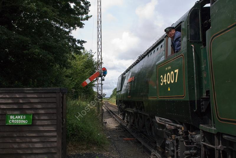 """34007 """"Wadebridge"""" at Ropley, Mid-Hants Railway, 14 July 2007"""