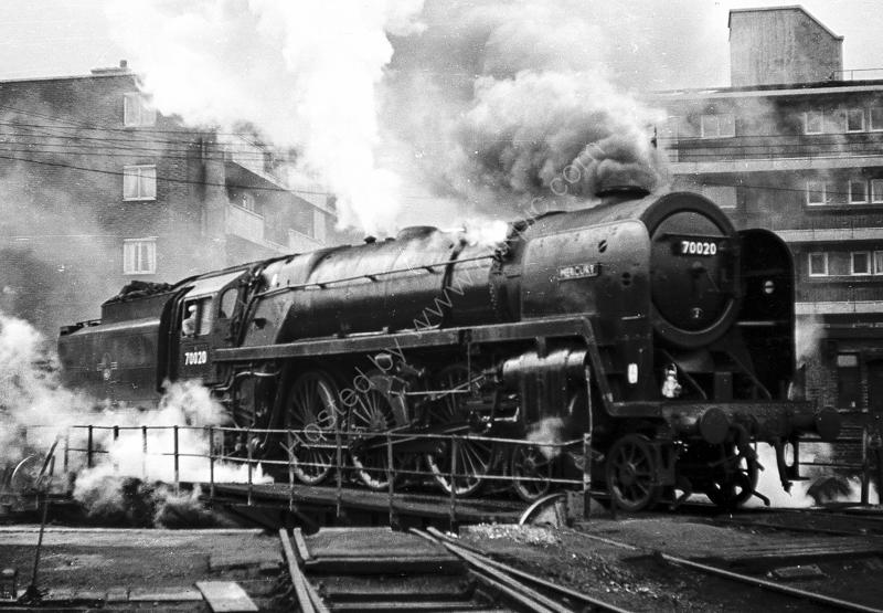 "70020 ""Mercury"" at Nine Elms shed, Battersea"