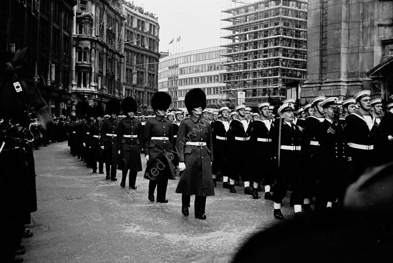 Winston Churchill's Funeral, St Paul's Cathedral, 30 January 1965