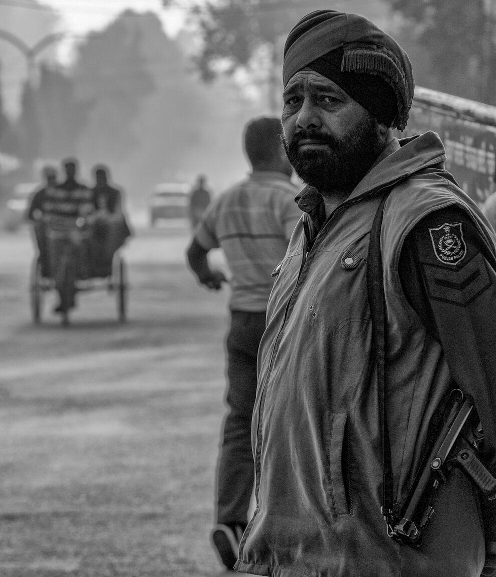 Policeman, Amritsar, March 2013