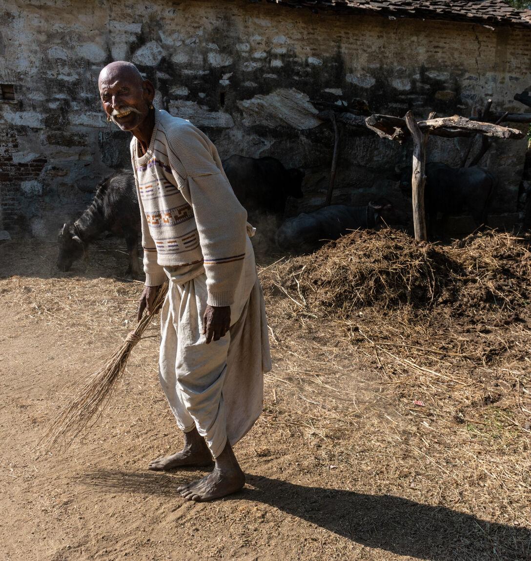 Farmer in Narlai, Rajasthan