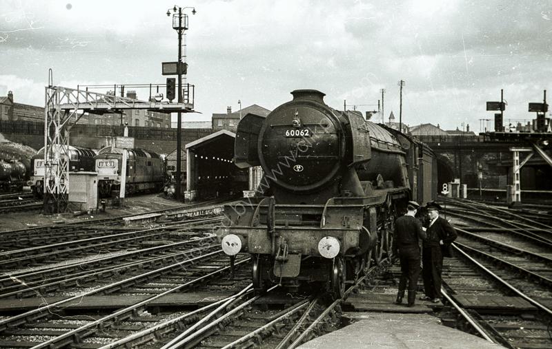 """A3 Class 60062 """"Minoru"""" at Kings Cross, May 1963"""