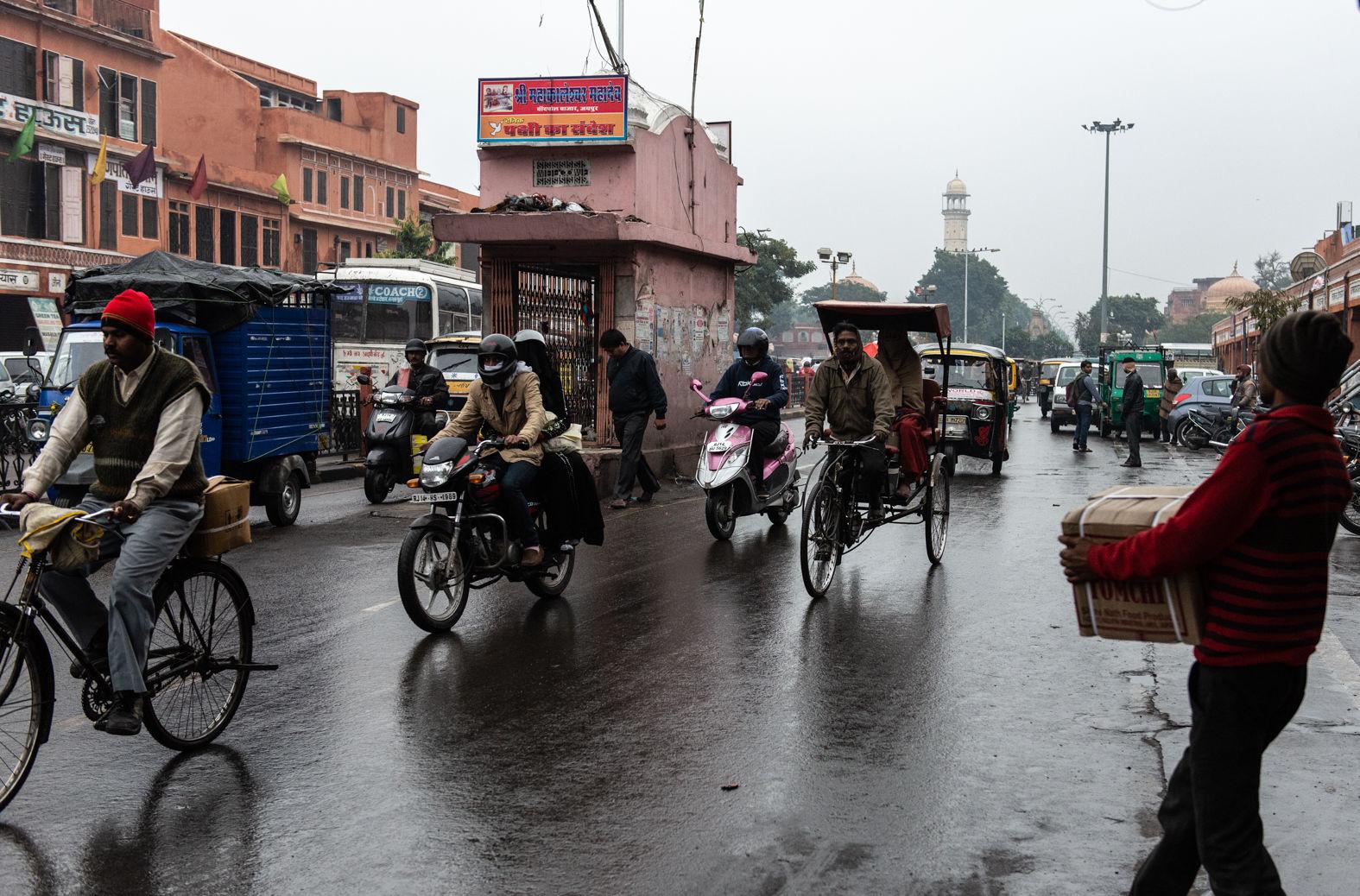 Rainy day in Jaipur, January 2014