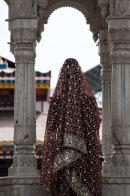 A bride at her wedding ceremony, Haridwar