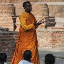 Buddhist monk, Sarnath, Varanasi