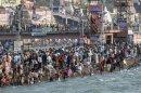 Bathing in the Ganges, Haridwar