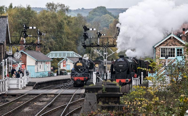 Grosmont Station, North Yorkshire Moors Railway, 19 October 2009
