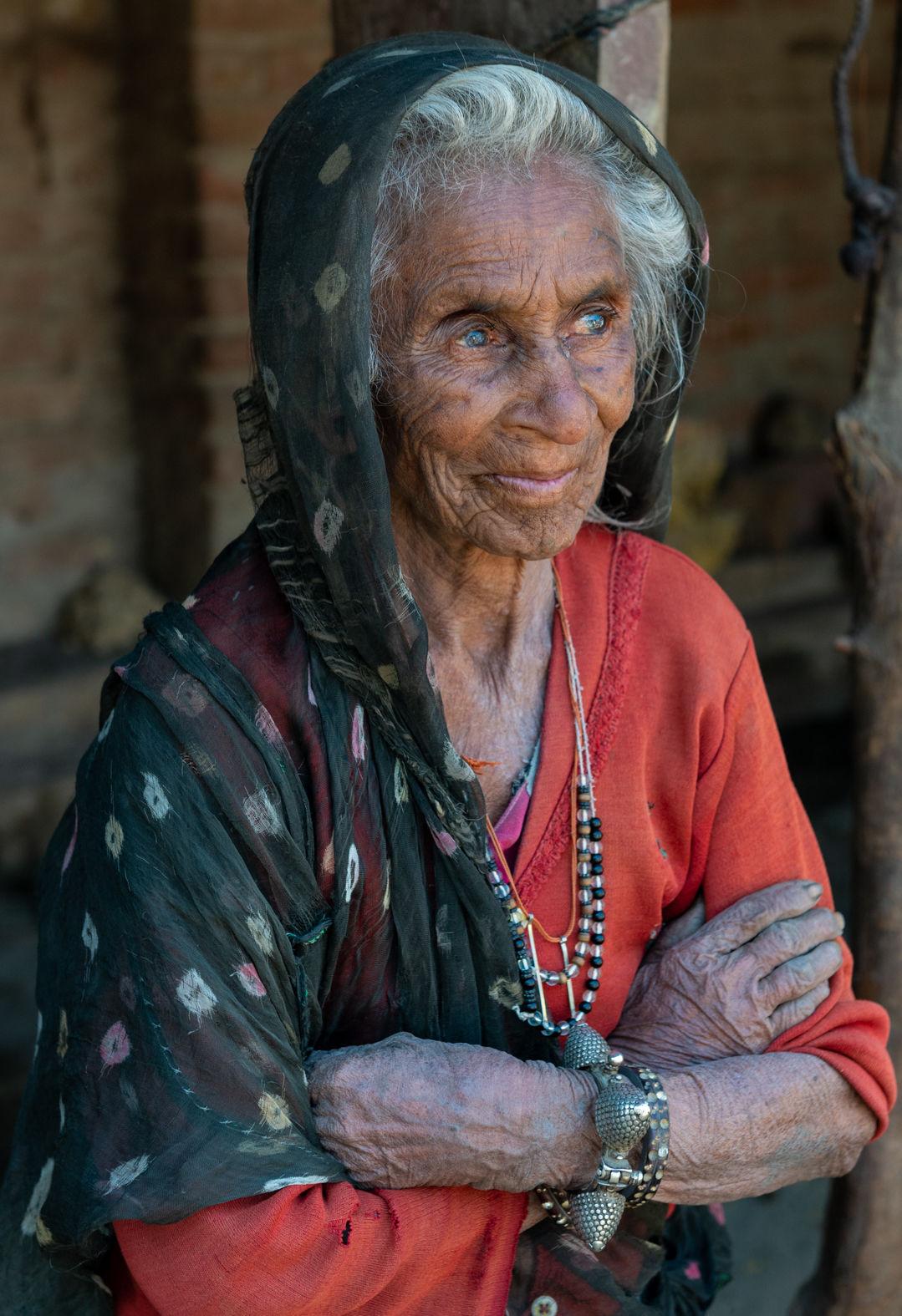 A villager in Shahpura, Rajasthan