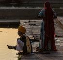Pilgrims by the sacred lake, Pushkar