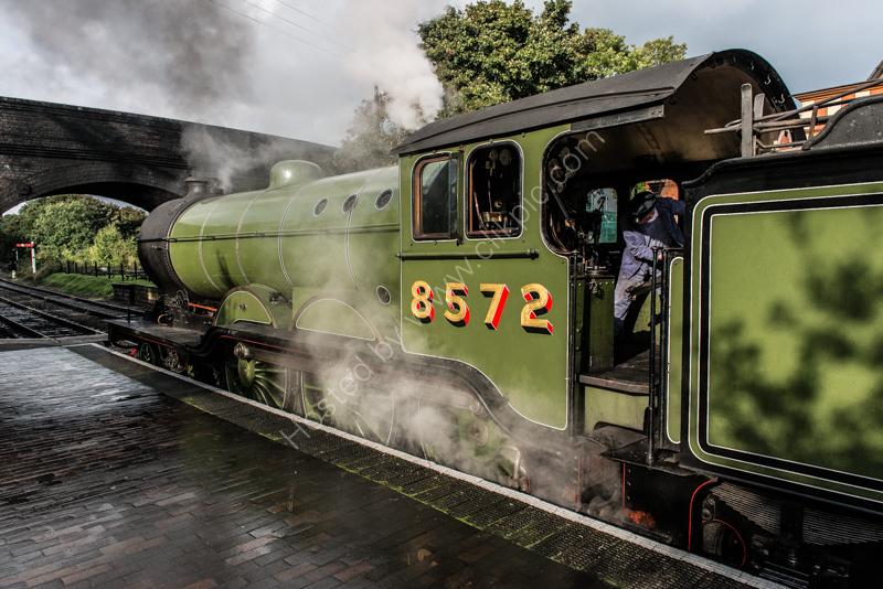 B12 Class  8572 at Weybourne, North Norfolk Railway, 13 October 2016