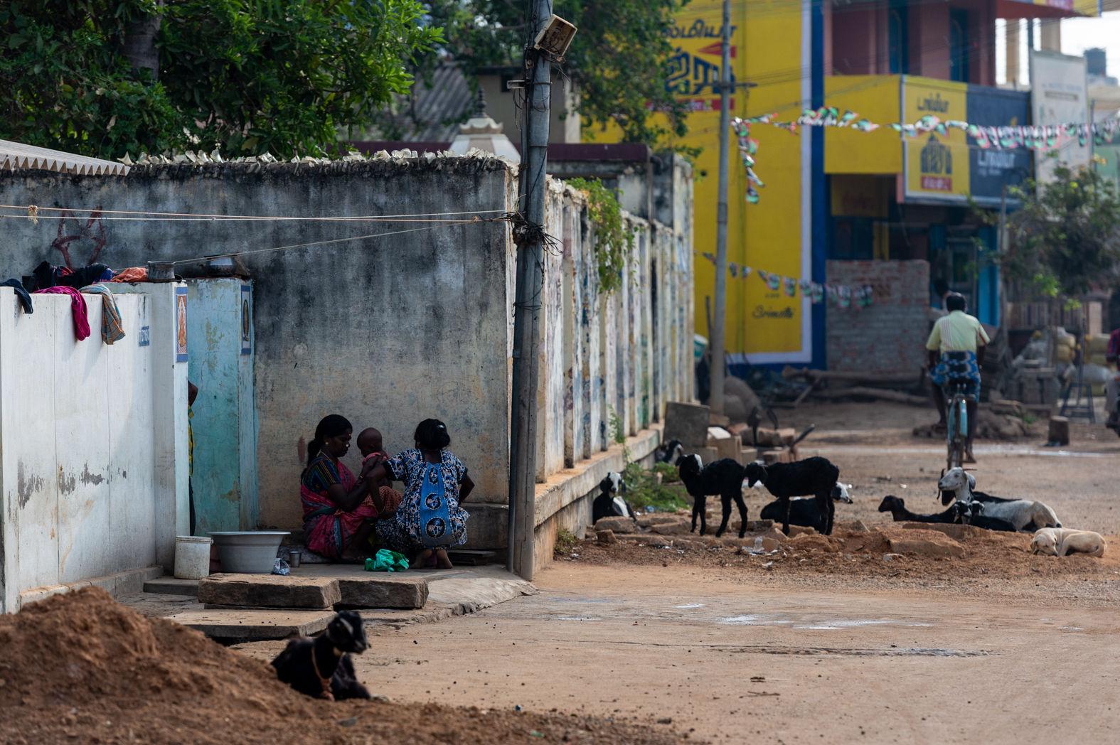 Street scene in Karaikudi, Tamil Nadu, February 2016