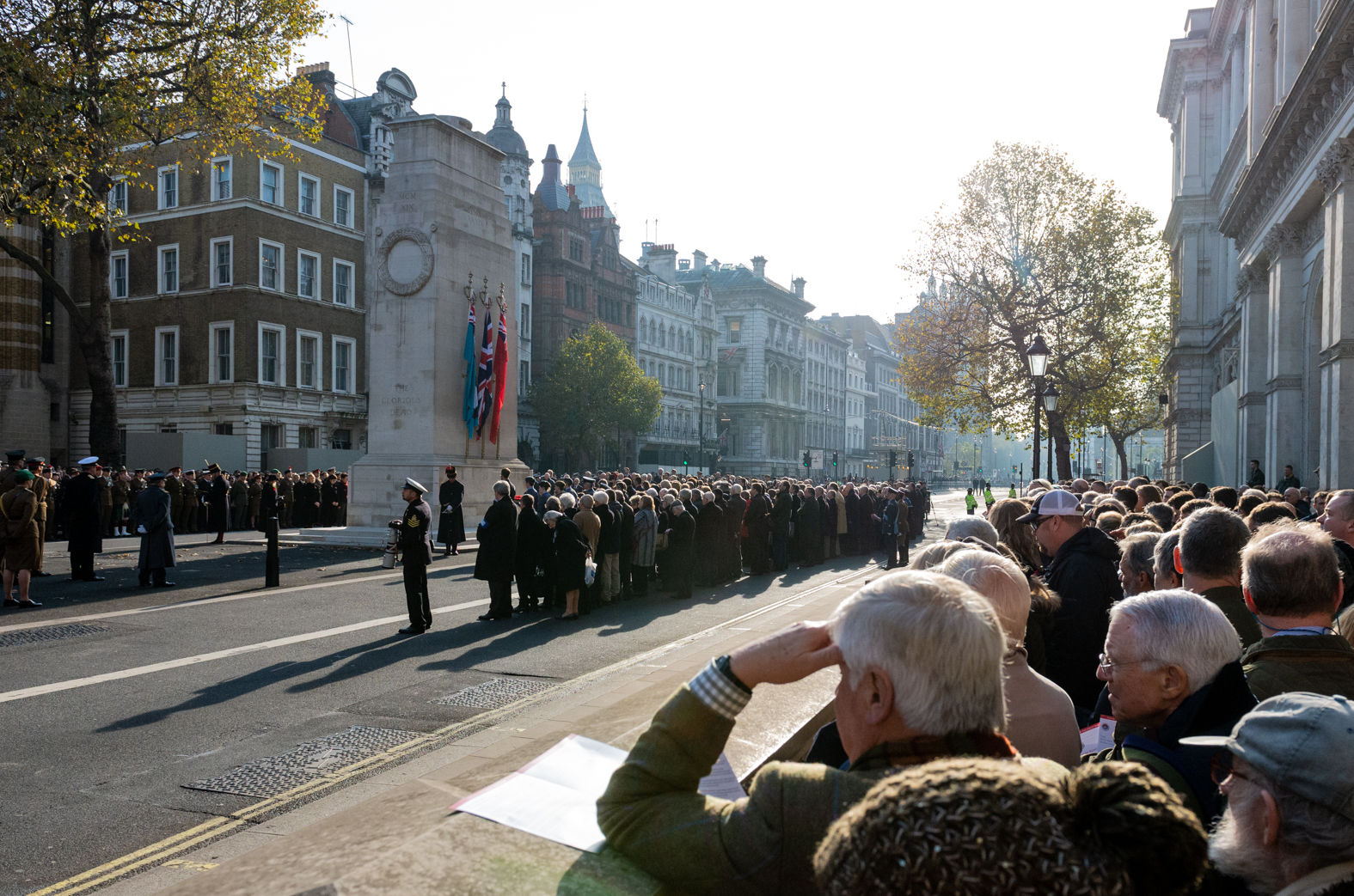 Armistice Day service at the Cenotaph, Whitehall