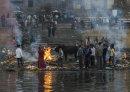 A cremation ghat, Varanasi