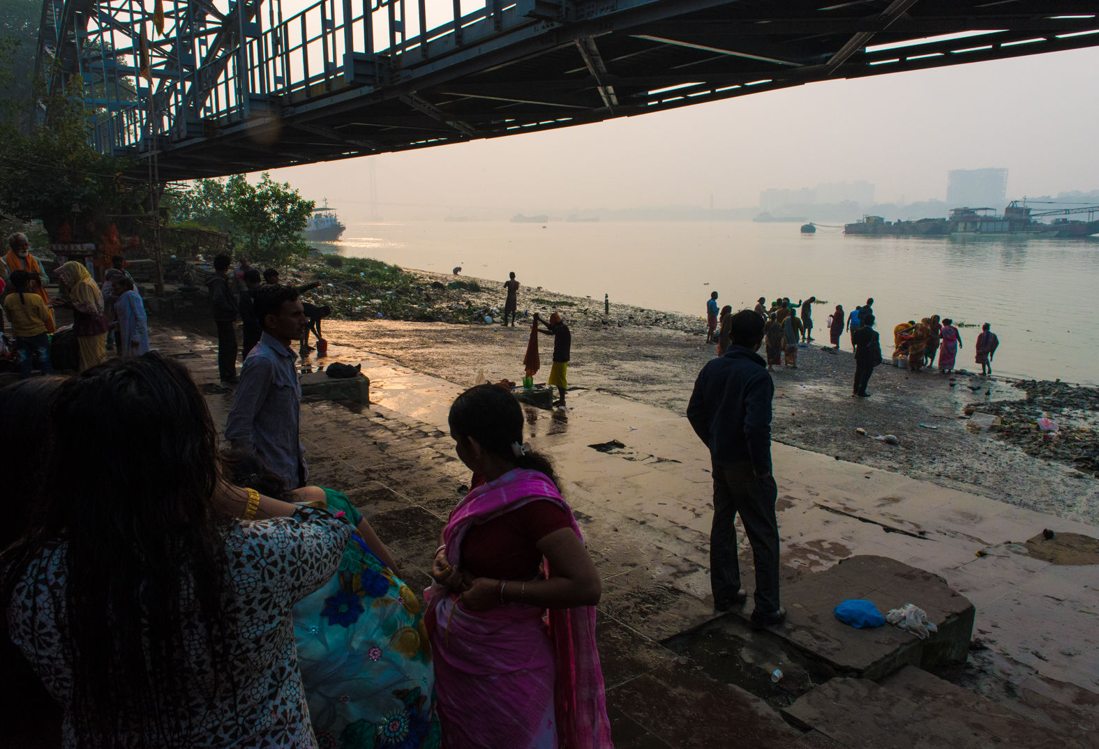 Out Ram Ghat on the Hooghly River, Kolkata, January 2018