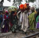 Ganga Sagar pilgrims arriving in Calcutta