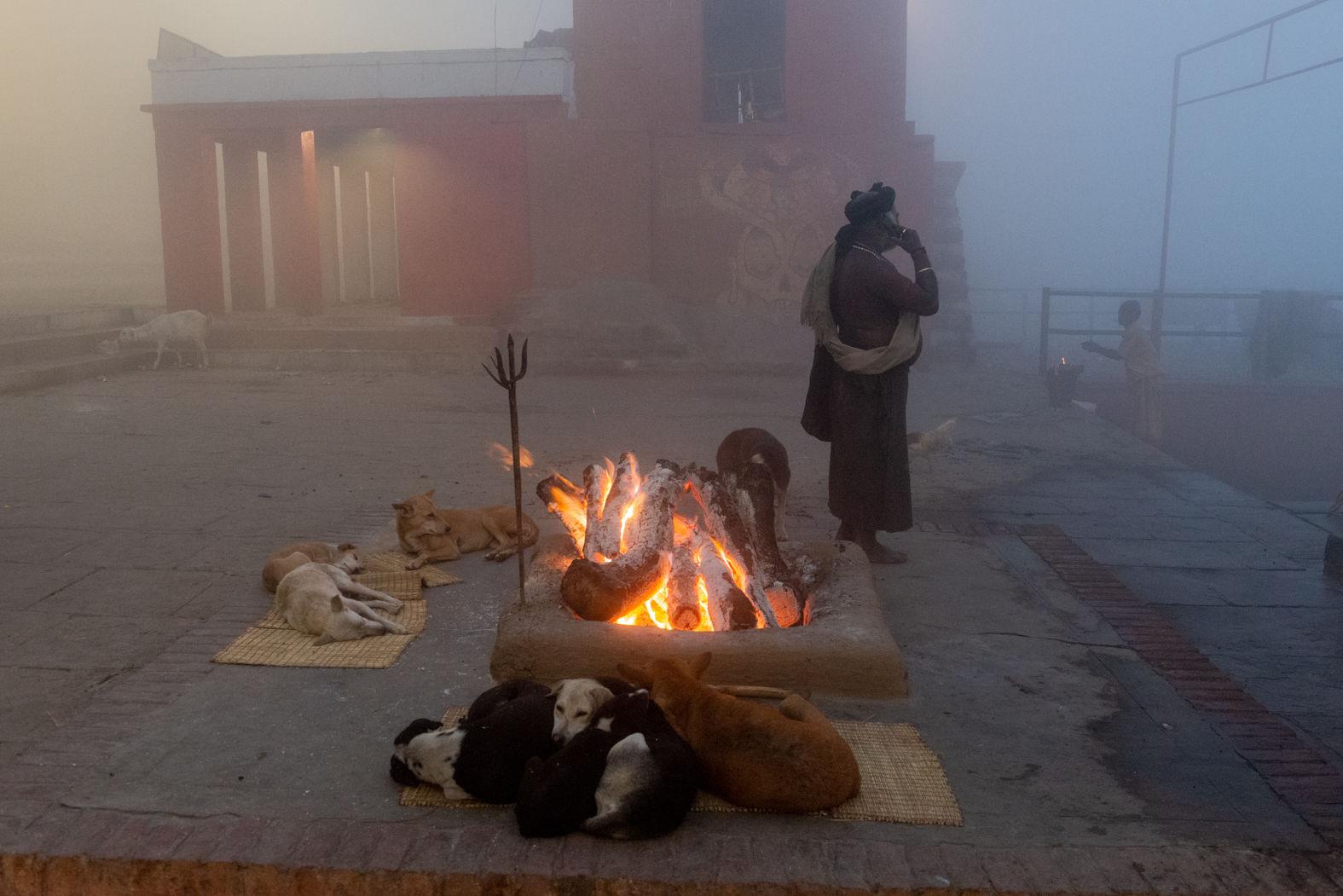 Before dawn, Varanasi, January 2018