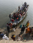 Pilgims on the Ganges, Varanasi