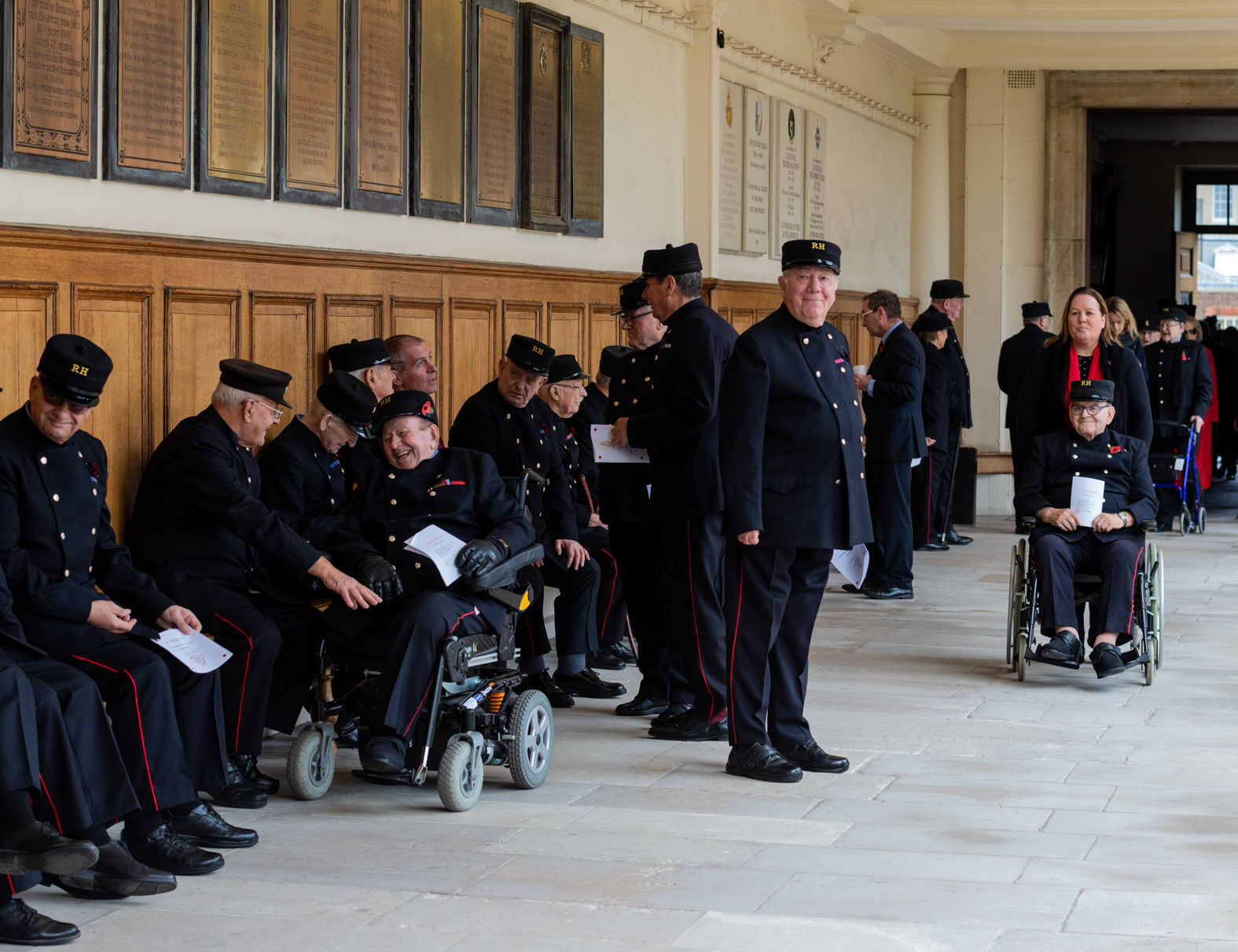 Gathering for a drumhead service, Royal Hospital Chelsea