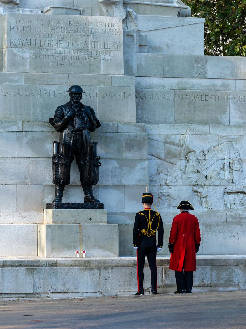 Royal Artillery Memorial, Remembrance Sunday