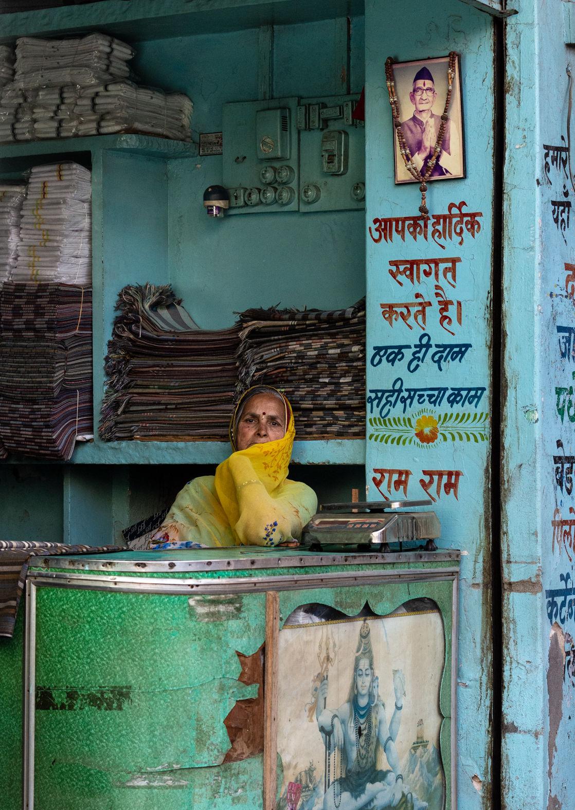 Shopkeeper, Shahpura, Rajasthan