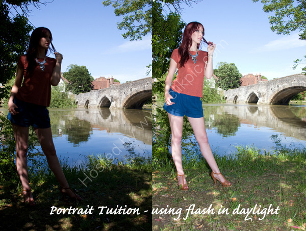 Portrait Photography Tuition. Using fill-in flash