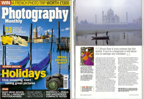 Tear Sheet Photography Monthly