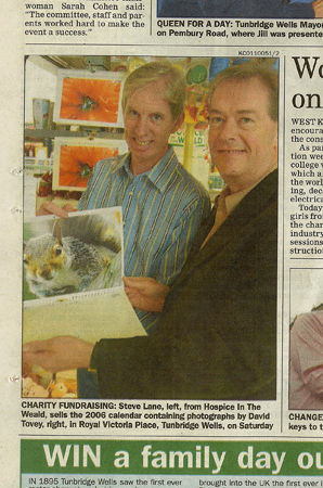 The Courier article on Hospice in the Weald Calendar