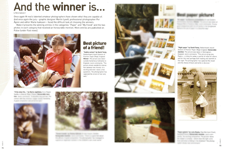 Winner and runner up in m-real photo competition