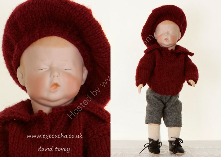 Reproduction Bisque Headed Doll