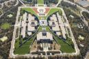 Parliament House, Capital Hill, Canberra, ACT, Australia - aerial