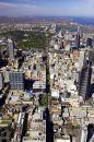 Swanston Street, Melbourne CBD, Victoria, Australia - aerial