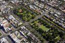 St Vincent Gardens, Albert Park, South Melbourne, Victoria, Australia  -  aerial