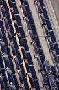 Coal Trains, Carrington Coal  Terminal, Newcastle, New South Wales, Australia - aerial